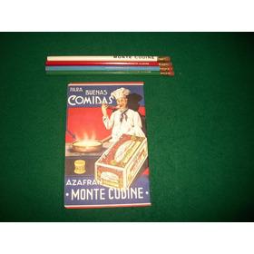 Monte Cudine . Libreta Almacenero Mas 4 Lapices Publicitario