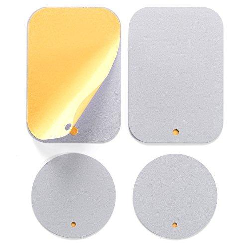 monte la placa de metal con adhesivo para montaje magnético