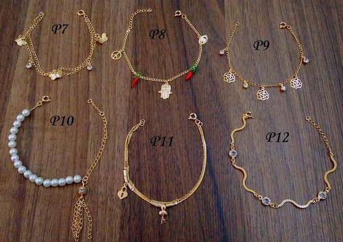 monte seu kit escolha 20 pulseiras folheadas