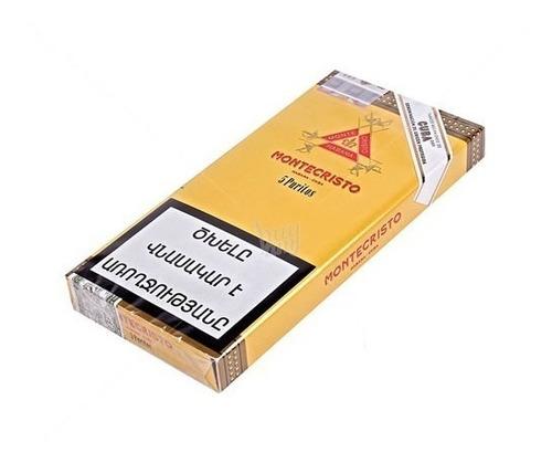 montecristo habanos puritos fumar cigarros cubanos caja x5
