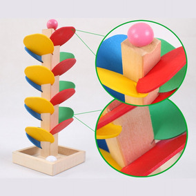Juguete Montessori De Árbol C Educativo Bola Madera Mármol kTiPXZuO