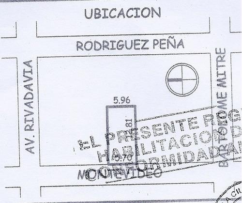 montevideo 100 - congreso - edificios en block/estructuras/obras edificios en block/estructuras/obras - venta