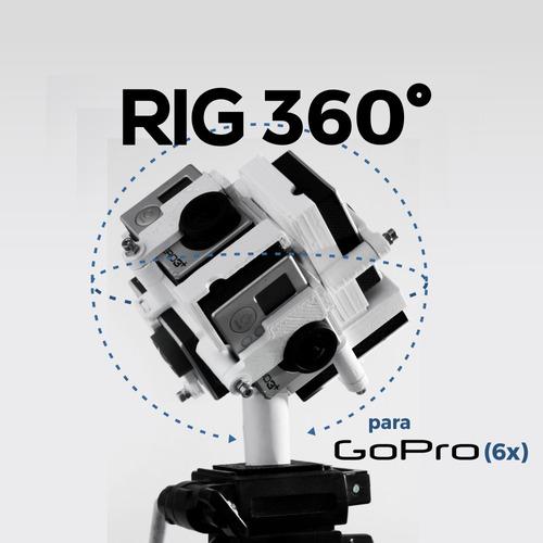 montura 360º de 6 cámaras para go pro (3,3+ 4) envio gratis
