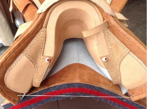 montura corralera cuero bayo completa / tienda bauldeaperos