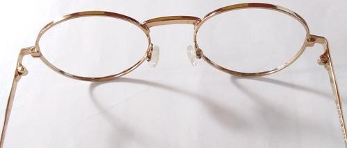 montura de lentes redonda en metal p/ niña favelent 051.