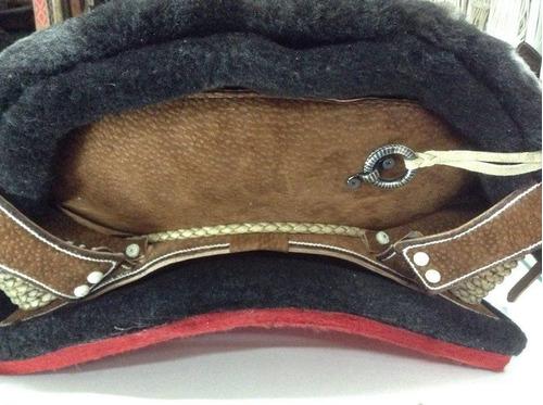 montura fina carpincho argollas chapeadas / bauldeaperos