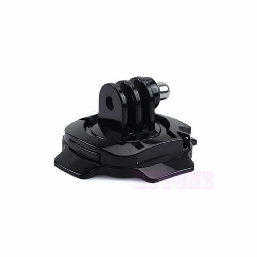 montura giratoria 360 curva para casco gopro action cam