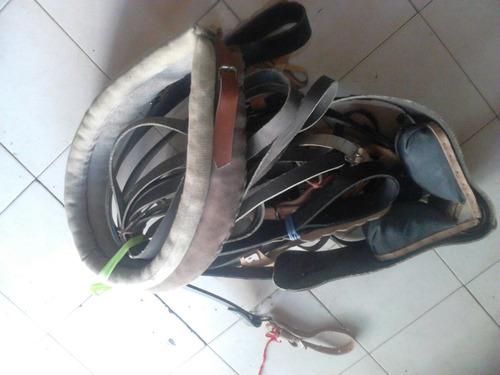 montura guarnición de goma p/ carro jardinera sulky pechera