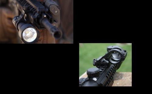montura linterna 25mm riel 20mm lateral tactica militar