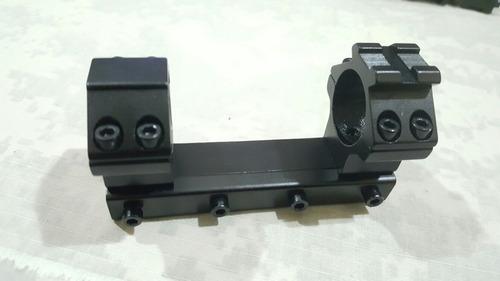 montura monopieza mira telescopica 2.5 cm riel de 11 cm