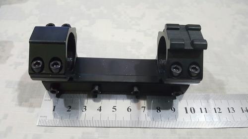 montura monopieza mira telescopica 2.5 riel 11 mm baja