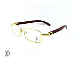 Mejor precio tienda de liquidación diseño innovador Montura Óptica Cartier® C Decore Gold Classic Opt0008 Madera