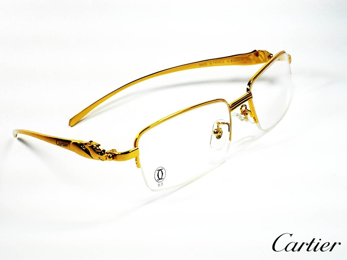 5d2e793432900 montura óptica cartier france 54-18mm gold panthere® opt0222. Cargando zoom.