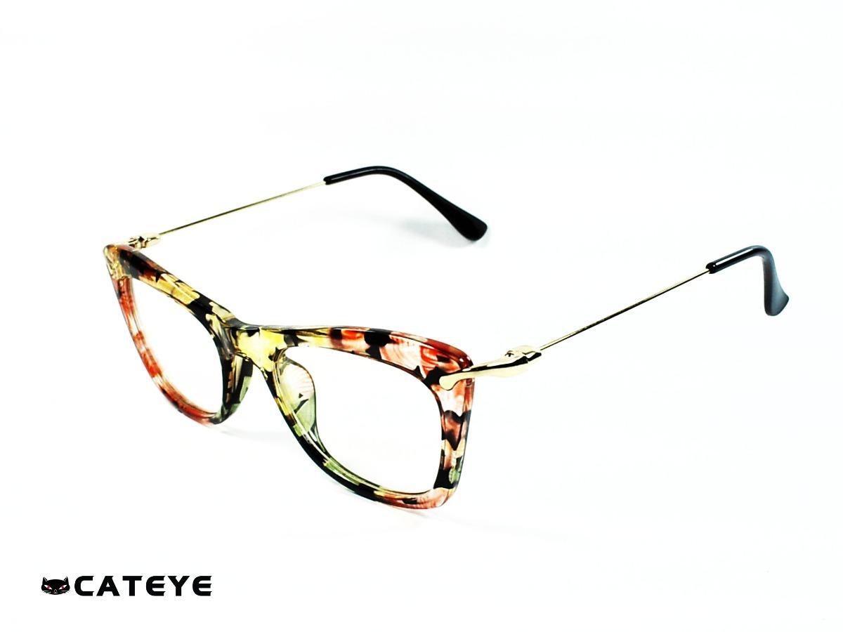 618fb310c5 Montura Óptica Cateye® Agata Green Lite Flower Opt0345 Marco - $ 59.900 en  Mercado Libre