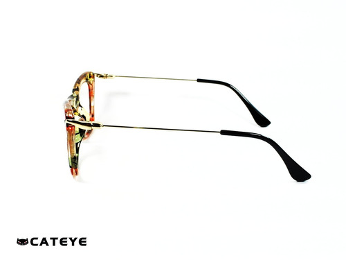 234997f778 Montura Óptica Cateye® Agata Green Lite Flower Opt0345 Marco ...