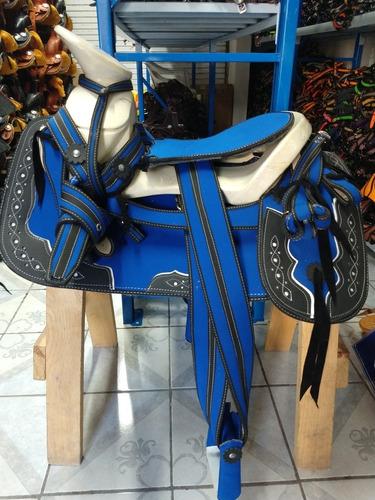 montura para caballo  o silla charra roja  envío gratís
