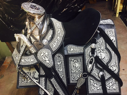 montura piteada pita fina fuste acero -silla montar- caballo