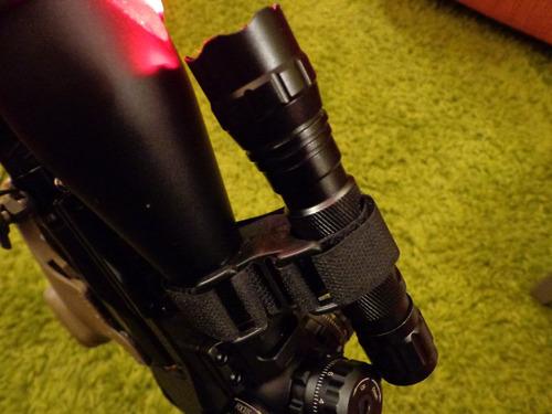 montura plastica para miras telescopicas, linternas tacticas