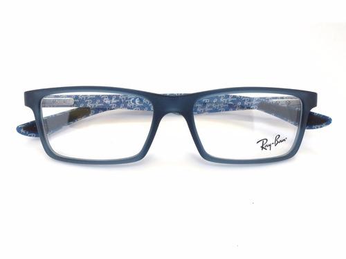 montura ray-ban rb9801 5262 carbon fibre blue/black