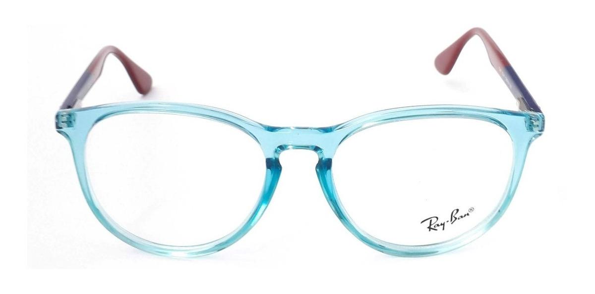 7087cf3327 montura rayban mujer round rb7046 azul transparente marino. Cargando zoom.