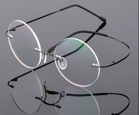 c3a1555954 Montura Retro® Steve Jobs Titanium + Lente Pc Descanso® A R