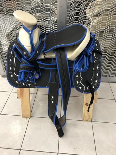 montura, silla charra para caballo fuste15 paquete increible