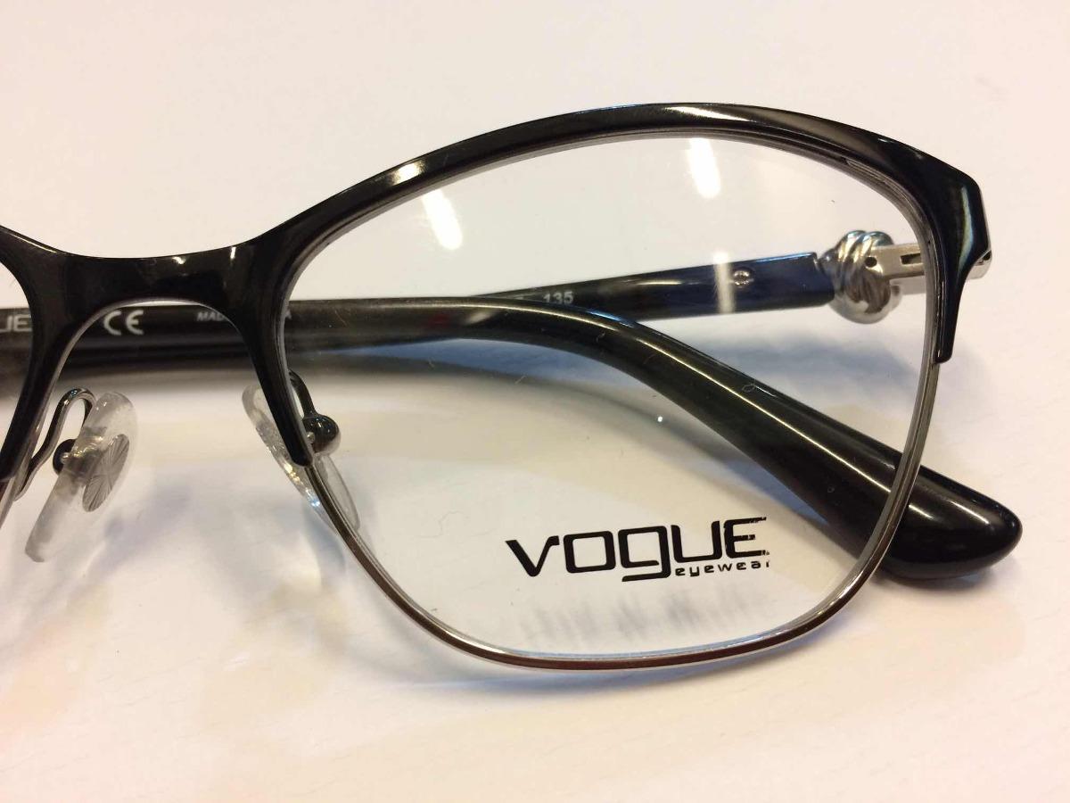 9ce231b1ab Montura Vogue Vo4013 (tamaño 51) Para Mujer Negro/plata - S/ 250,00 ...