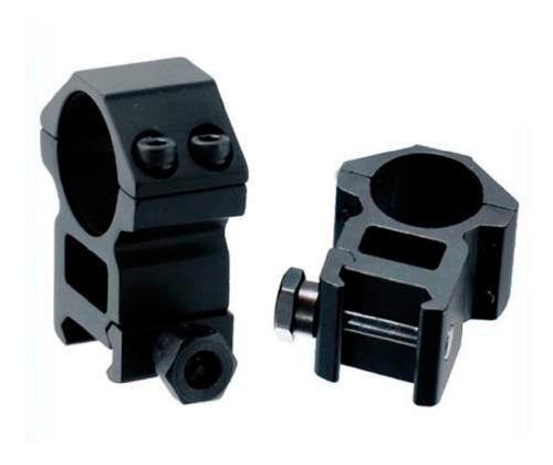 monturas anilletas riel 20mm mira telescopica tubo 1  pulgad