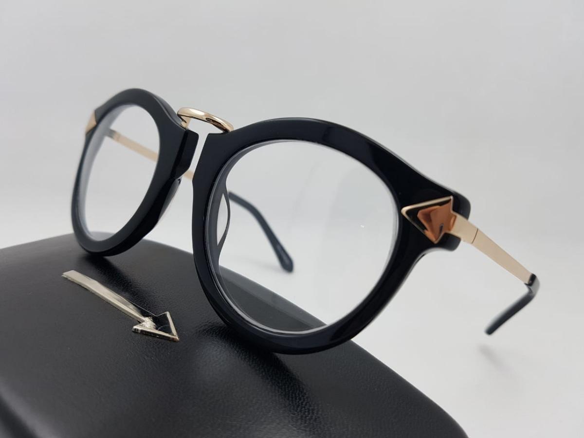 Monturas Gafas Marcos De Diseñador Redondas Negras Mujer - $ 119.900 ...
