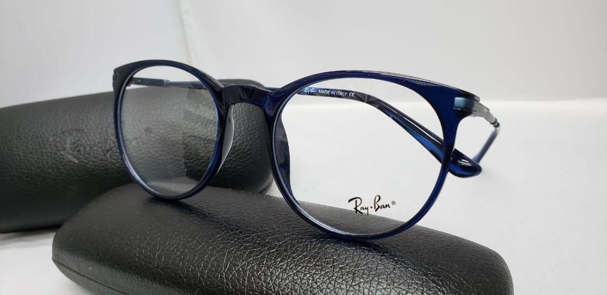 183d24aeae Monturas Gafas Rayban Redondas Azules Hombre Mujer - $ 119.900 en ...