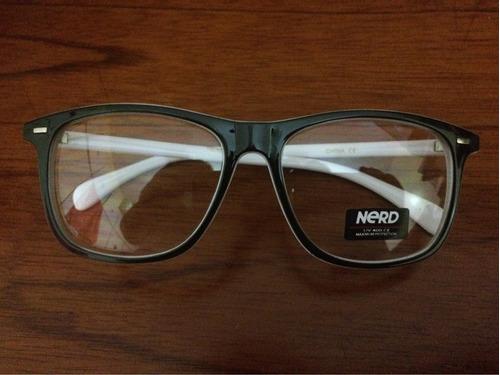 monturas oftalmica nerd blanco y negro importado