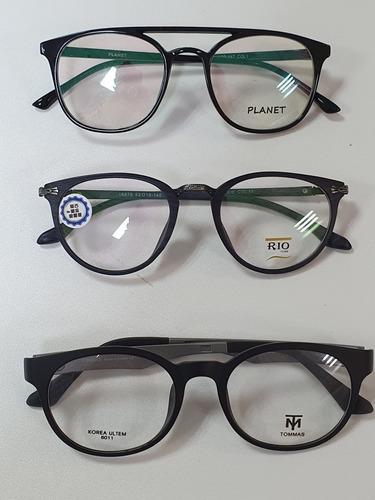 monturas y cristales visión sencilla antirreflejo 40$