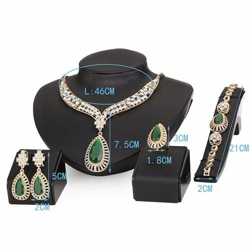 moochi 18k oro plateado cuentas verdes cristal cadena collar