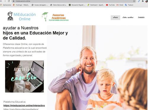 moodle. servicio de hosting y dominio para enseñanza online