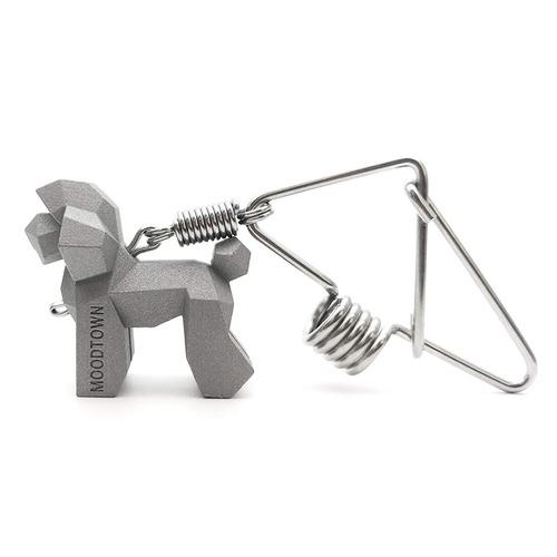 moodtown hechos a mano de acero acero perro clave cadena ( c