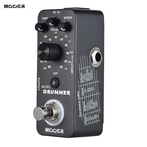 mooer micro drummer digital drum machine pedal de efecto gui