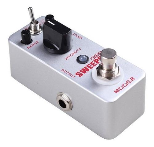 mooer sweeper micro pedal de efecto clean/fuzz para bajo