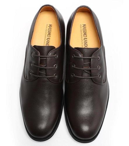moon cafe 7cm zapato cuero hombre formal con realce interior
