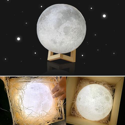 moon lamp, lampara de luna usb pila recargable 10 cm