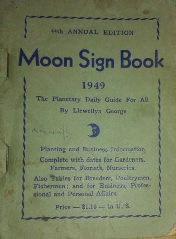 moon sign book 1949 planetary guide / llewellyn george
