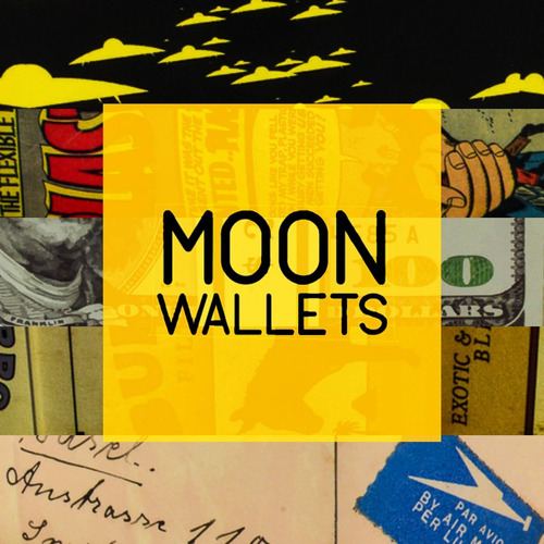 moon wallet - billete zapata - cartera de papel