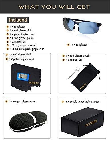 bbfb01371 Mooray Gafas De Sol Polarizadas Para Hombre Proteccion Uv Ga ...