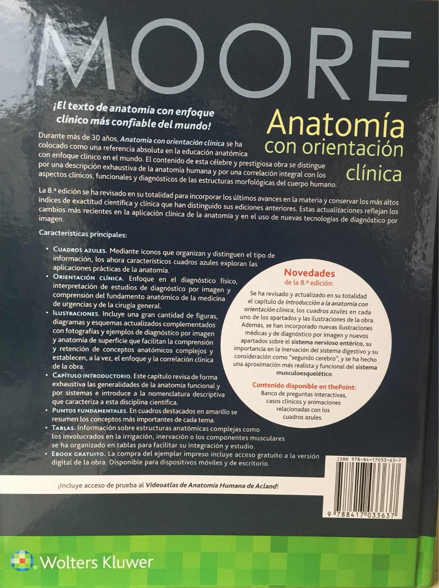 Moore Anatomia Con Orientación Clínica 8a2018 Original-nuevo ...