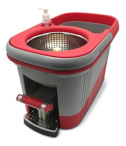 mopa centrifuga balde trapeador giratorio pedal 2 mopas