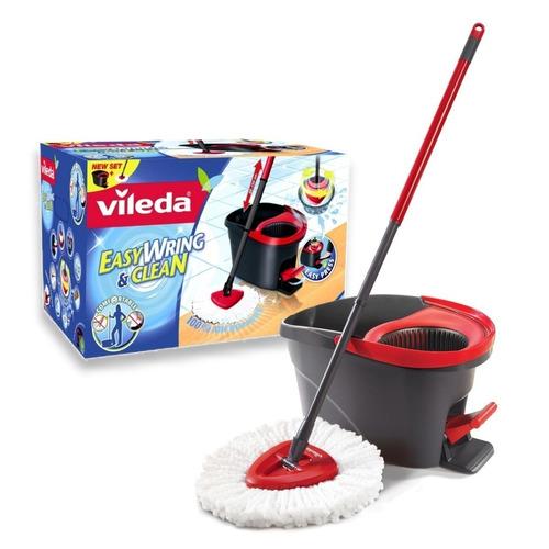 mopa centrifuga con balde escurridor pedal vileda microfibra