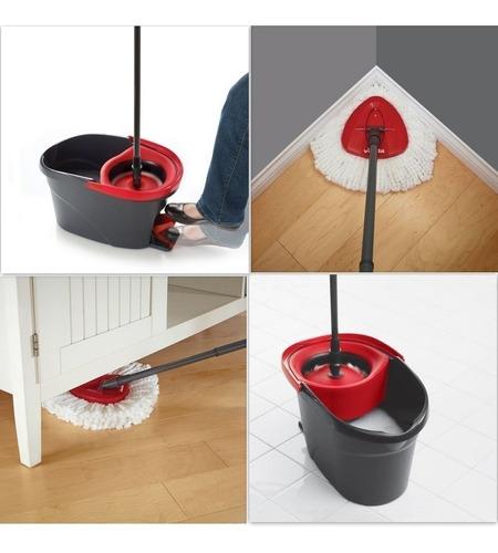 mopa centrifuga con balde escurridor pedal vileda + repuesto
