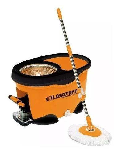 mopa giratoria balde escurridor c/ pedal centrifugo lusqtoff