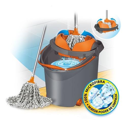 mopa microfibra con balde escurridor iberia pronto seca mop