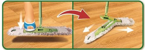 mopa microfibra pisos virulana plana extra cabo extensible