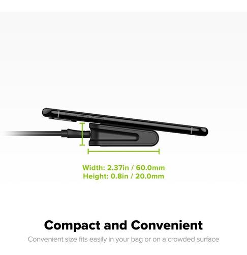 mophie mini cargador wireless de viaje 5w iphone y samsung
